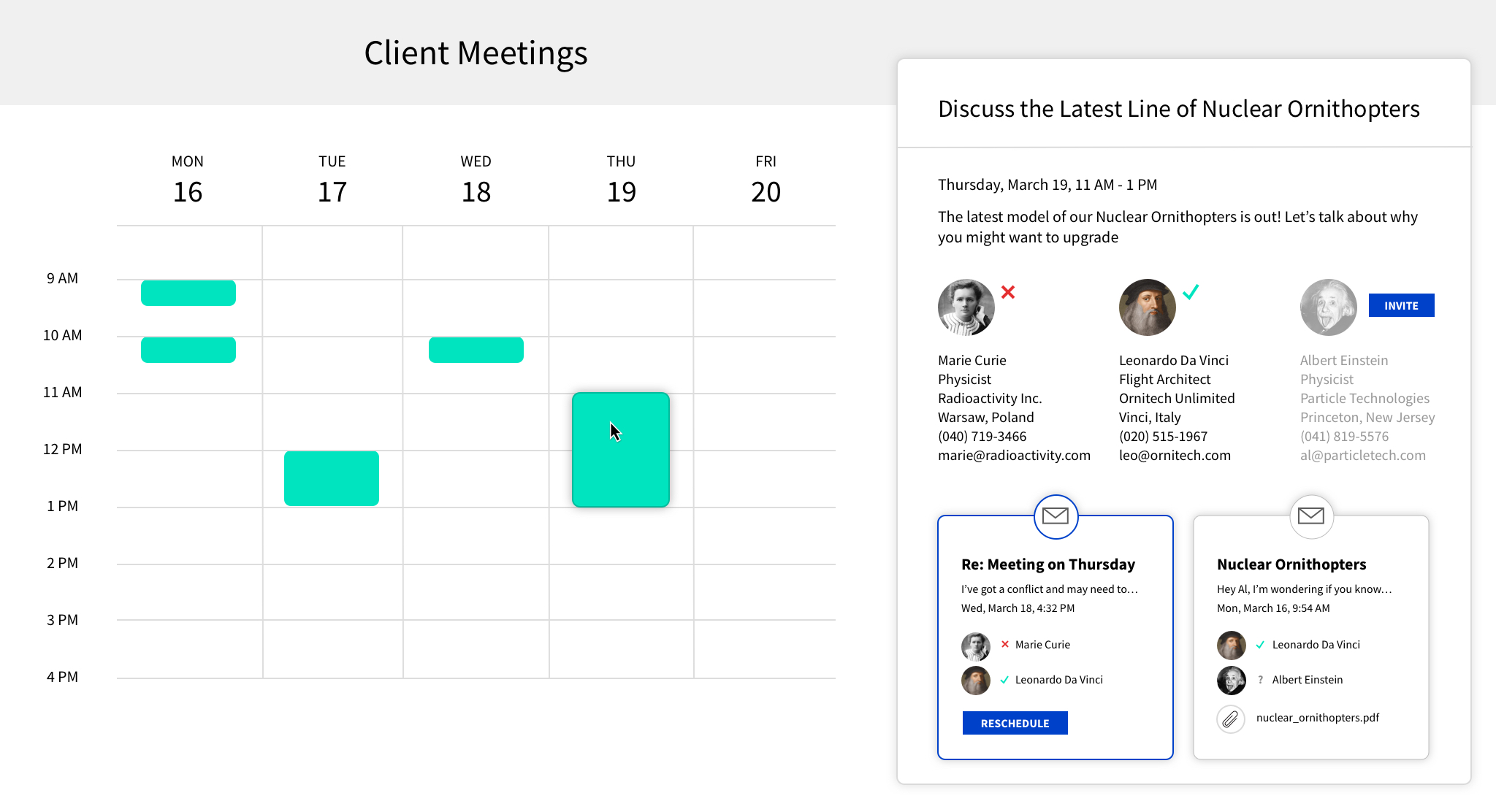 Build user interfaces that let your users better manage their schedule